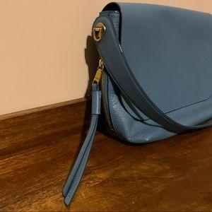 Fossil Maya Crossbody Blue Leather Bag - Like New